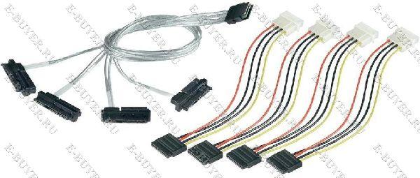 Кабель SCSI Adaptec ACK-I-mSASx4-SAS4x1-FO-1M