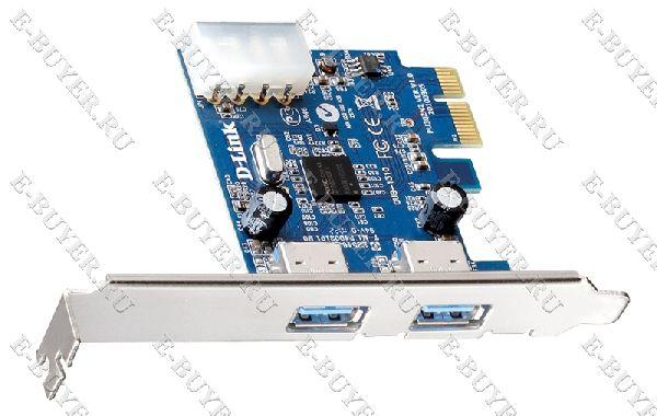 2-портовый USB 3.0 адаптер для шины PCI Express D-link DUB-1310