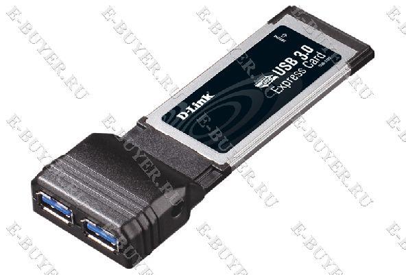 2-портовый USB 3.0 адаптер для шины ExpressCard D-link DUB-1320