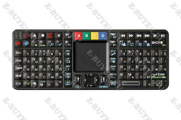 Беспроводная Qwerty клавиатура с тачпадом и подсветкой