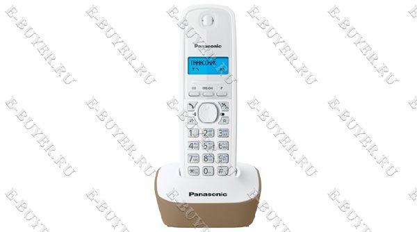 Телефон Dect Panasonic (бежевый) KX-TG1611RUJ