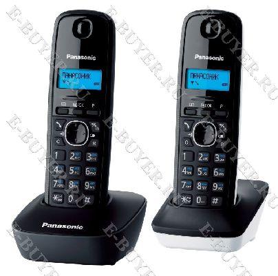 Телефон Dect Panasonic (серый/белый) KX-TG1612RU1