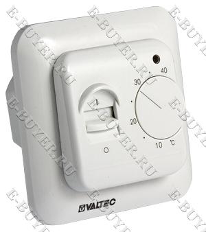 Термостат комнатный с датчиком температуры пола (НЗ сервопривод–отопл., НО-охл. конд.) VT.AC602.0.0
