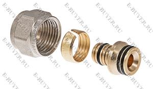 Соединитель коллекторный обжимной для металлополимерной трубы 16 (2,0) VTc.710.N.1604